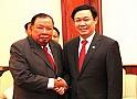 Đoàn cấp cao Ban Kinh tế Trung ương thăm và làm việc tại Lào