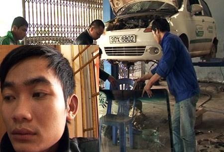 Trai làng hành hung dã man tài xế taxi