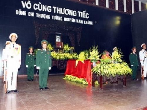 Tổ chức lễ tang Thượng tướng Nguyễn Nam Khánh