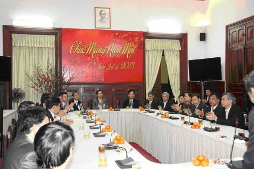 TANDTC tổ chức buổi gặp mặt và chúc Tết đầu xuân Quý Tỵ 2013