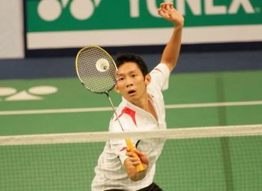 Tiến Minh tham dự giải cầu lông toàn Anh