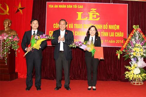Bí thư TW Đảng, Chánh án TANDTC Trương Hòa Bình làm việc tại tỉnh Lào Cai và Lai Châu