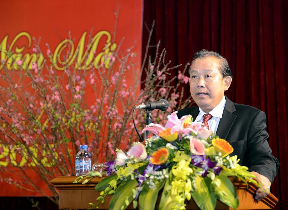 Chánh án TANDTC Trương Hòa Bình gặp mặt đầu Xuân cán bộ, công chức Tòa án