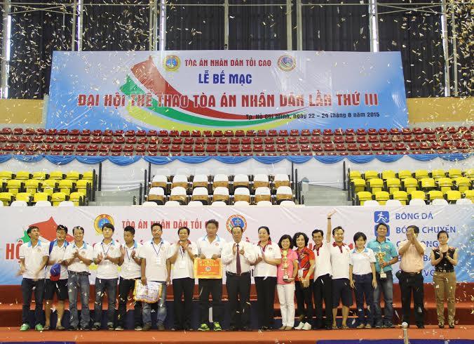 Bế mạc Đại hội thể thao TAND lần III năm 2015 thành công tốt đẹp