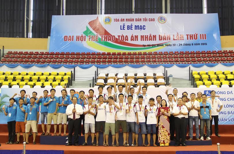 Đại hội thể thao TAND lần thứ III năm 2015: Những chiếc huy chương đã tìm được chủ nhân xứng đáng