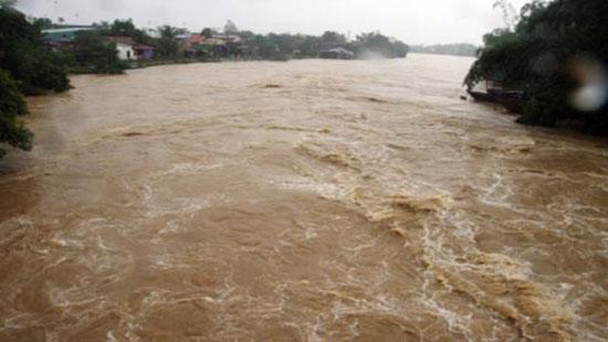 Cảnh báo lũ trên sông Dinh thuộc huyện Hàm Tân và thị xã La Gi