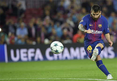 Messi sút phạt ghi bàn, Barca toàn thắng ba trận đầu ở Champions League