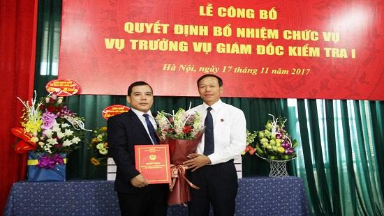 TANDTC bổ nhiệm Vụ trưởng Vụ Giám đốc, kiểm tra I