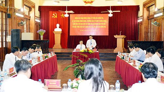 Đoàn công tác của Bộ Chính trị làm việc với Ban cán sự Đảng TANDTC