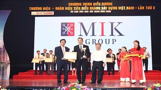 MIK GROUP nhận danh hiệu Top 10 Thương hiệu-Nhãn hiệu tiêu biểu ngành Xây dựng 2017