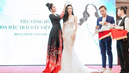 Hà Thu chính thức được trao vương miện Hoa hậu Trái Đất Việt Nam