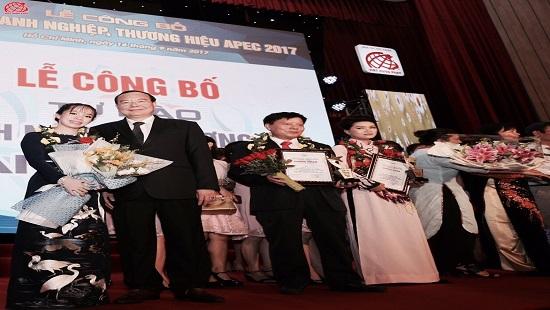 """Việt Hưng Phát được vinh danh """"Top 10 Thương hiệu tiêu biểu APEC- 2017"""""""