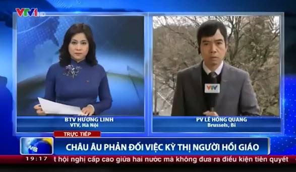 Phóng viên VTV hốt hoảng vì...mất điện thoại trong chương trình thời sự